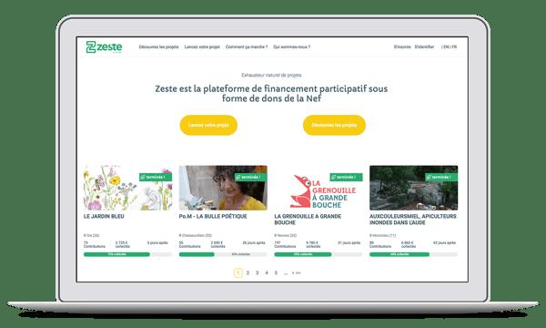 Zeste plateforme de crowdfunding de la Nef